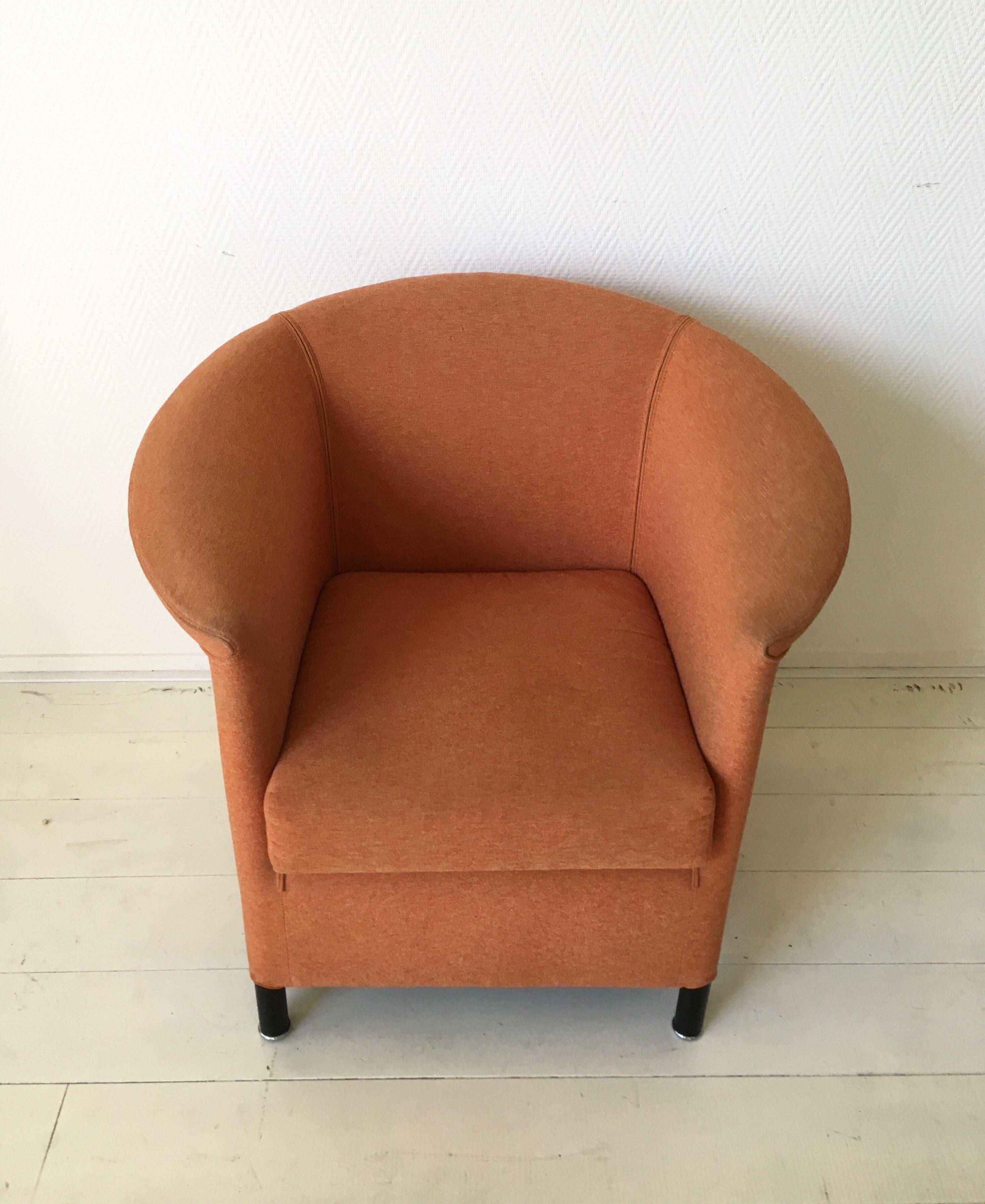 Modern Orange Armchair By Paolo Piva For Wittmann, Model Aura For Sale