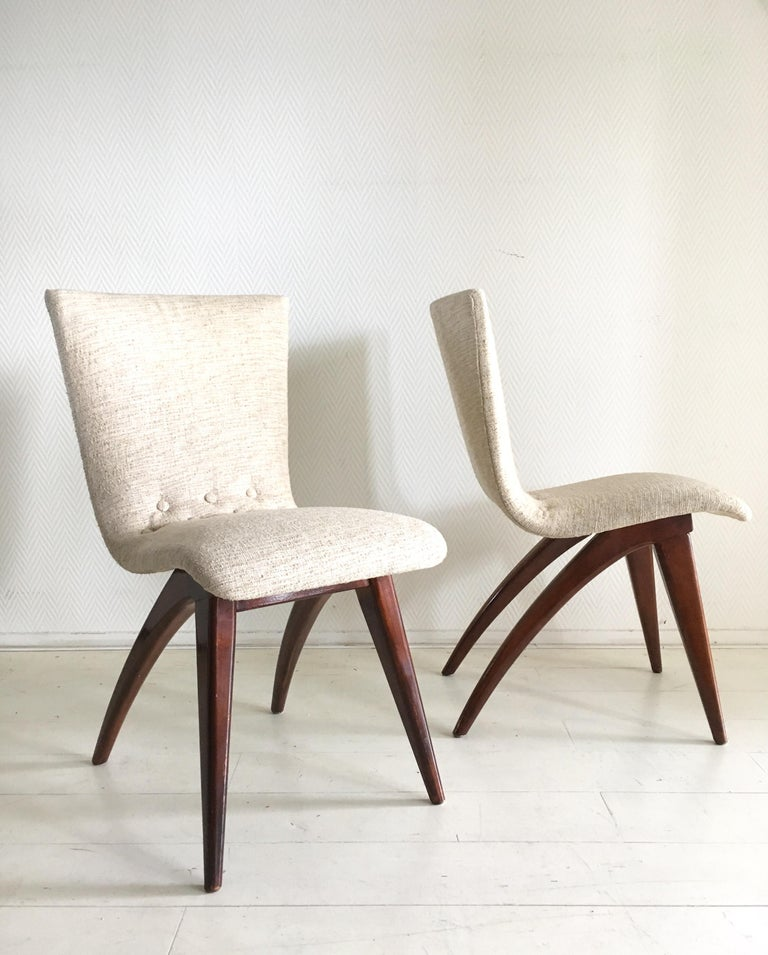 20th Century Midcentury Set of four Dining Chairs, Model Swing by CJ van Os Culemborg For Sale