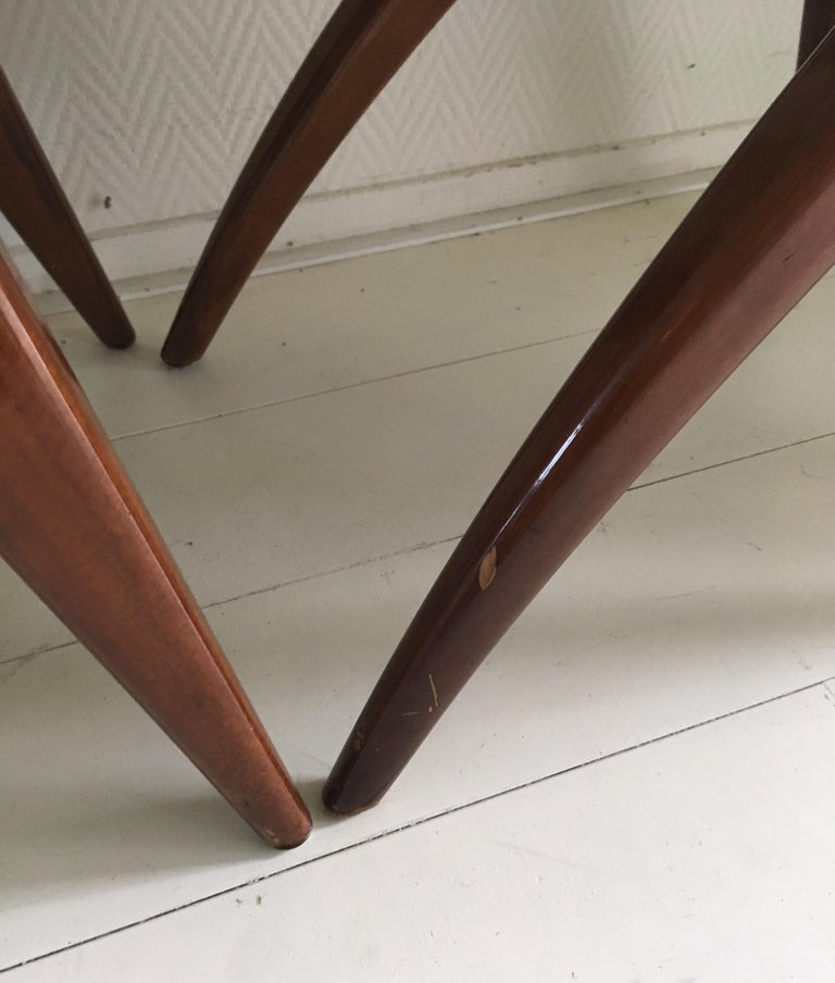 Midcentury Set of four Dining Chairs, Model Swing by CJ van Os Culemborg For Sale 2