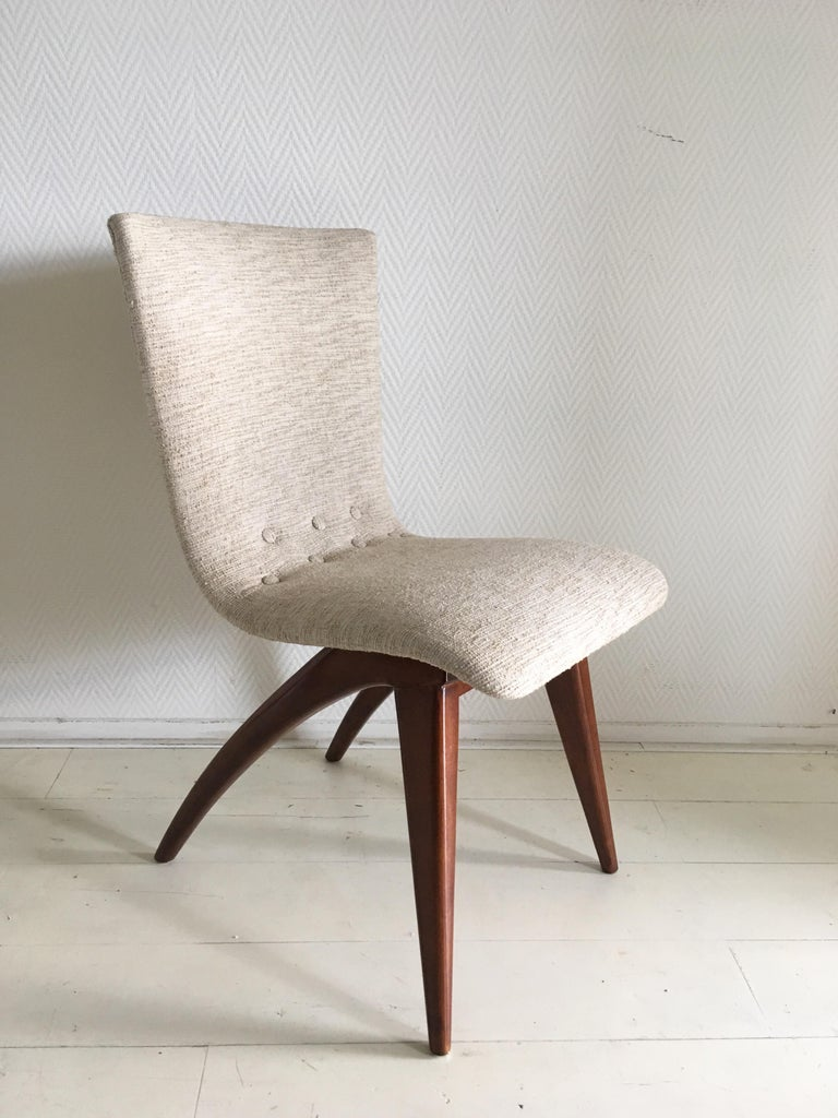 Midcentury Set of four Dining Chairs, Model Swing by CJ van Os Culemborg In Good Condition For Sale In Schagen, NL