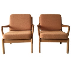 Midcentury Pair of Teak, Lounge Chairs by L. Olsen and Son Mobelfabrik, Denmark