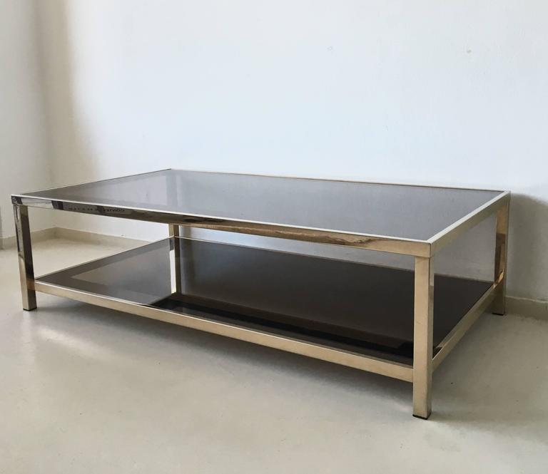 Exclusive 23 Carat Rectangular Gold Plated Coffee Table 1960s For Sale At 1stdibs