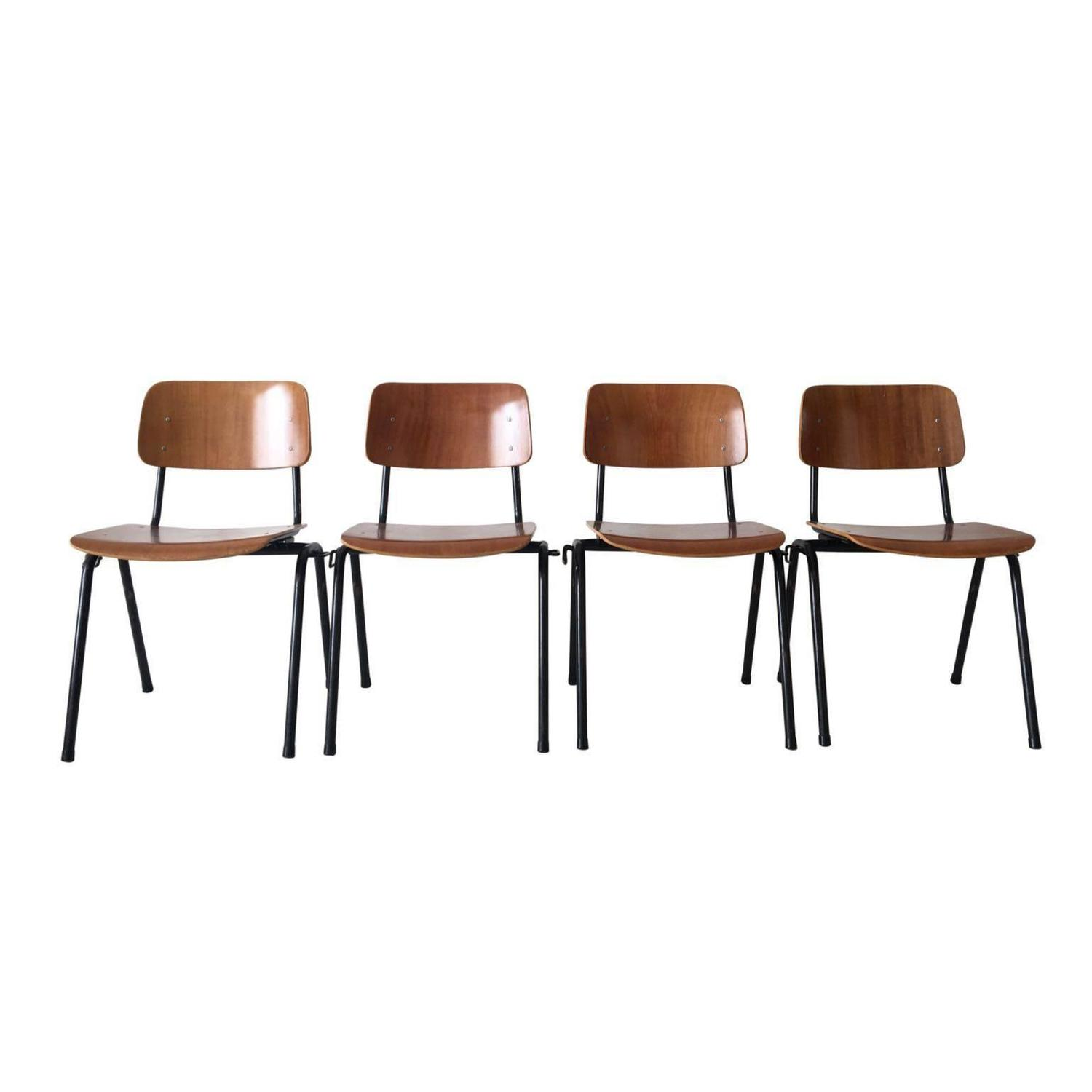 Set of Magnificent School Chairs Produced by Marko Holland 1968