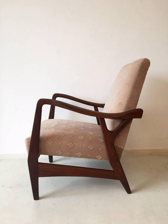 Mid-Century Modern Pair of Massive Teak Organic Shaped Lounge Chairs by Topform, 1950s-1960s For Sale