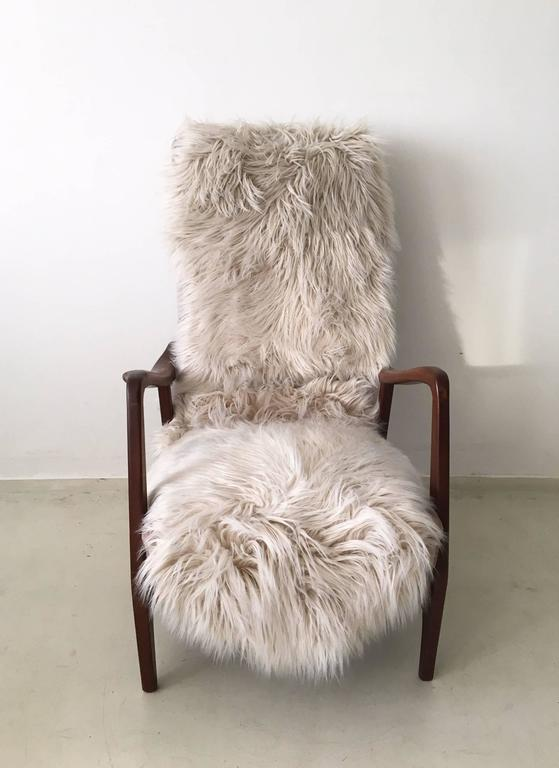 20th Century Pair of Massive Teak Organic Shaped Lounge Chairs by Topform, 1950s-1960s For Sale