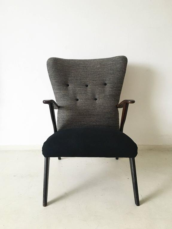 Wonderful Re Upholstered Wingback Chair In Style Of Ercol. This Easy Or  Lounge Chair