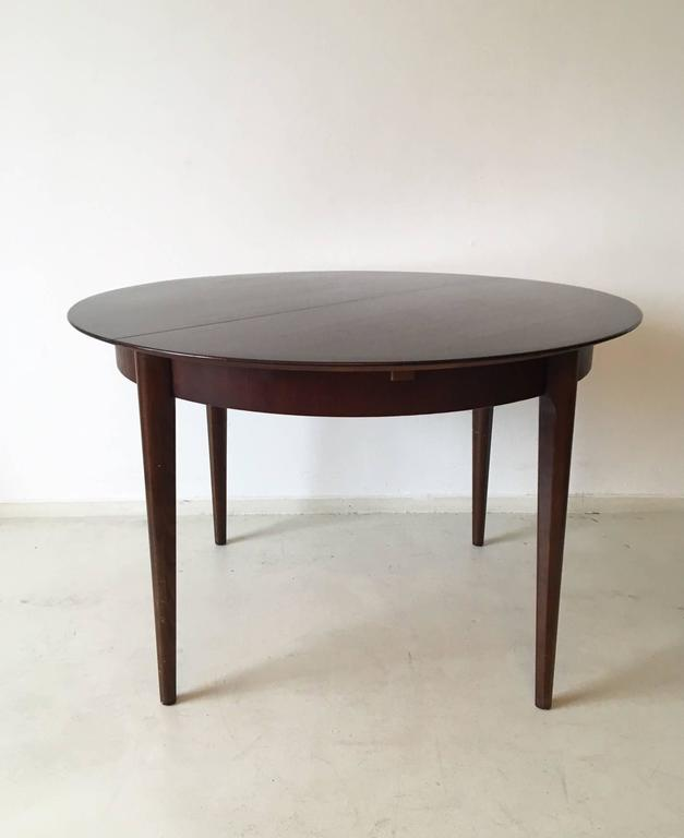Mid Century Modern Round Or Oval Extendable Dining Table By Lubke 1960s For