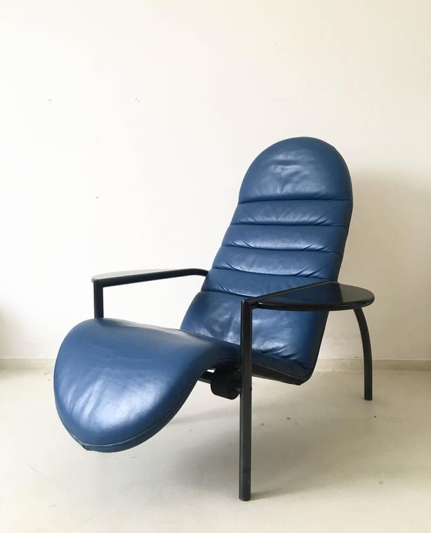 extreme rare adjustable lounge chair by ammanati and vitelli for moroso 1980s for sale at 1stdibs. Black Bedroom Furniture Sets. Home Design Ideas