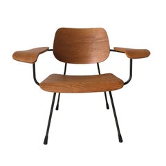 Minimalist Dutch Design Pilastro Easy Chair Model 8000 by Tjerk Reijenga, 1960s