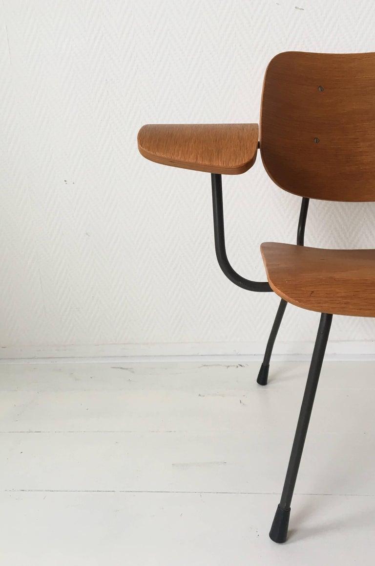 Minimalist Dutch Design Pilastro Easy Chair Model 8000 by Tjerk Reijenga, 1960s For Sale 4