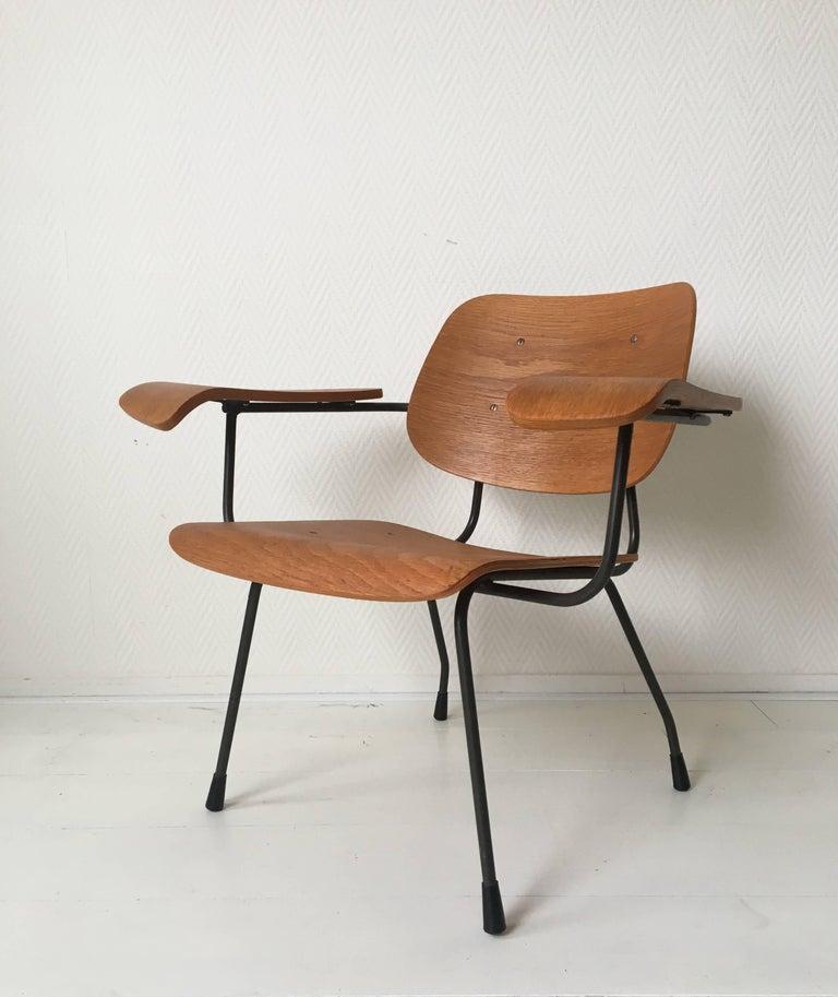 Metal Minimalist Dutch Design Pilastro Easy Chair Model 8000 by Tjerk Reijenga, 1960s For Sale