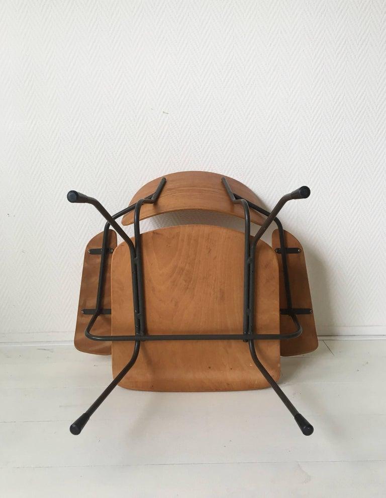 Minimalist Dutch Design Pilastro Easy Chair Model 8000 by Tjerk Reijenga, 1960s For Sale 2