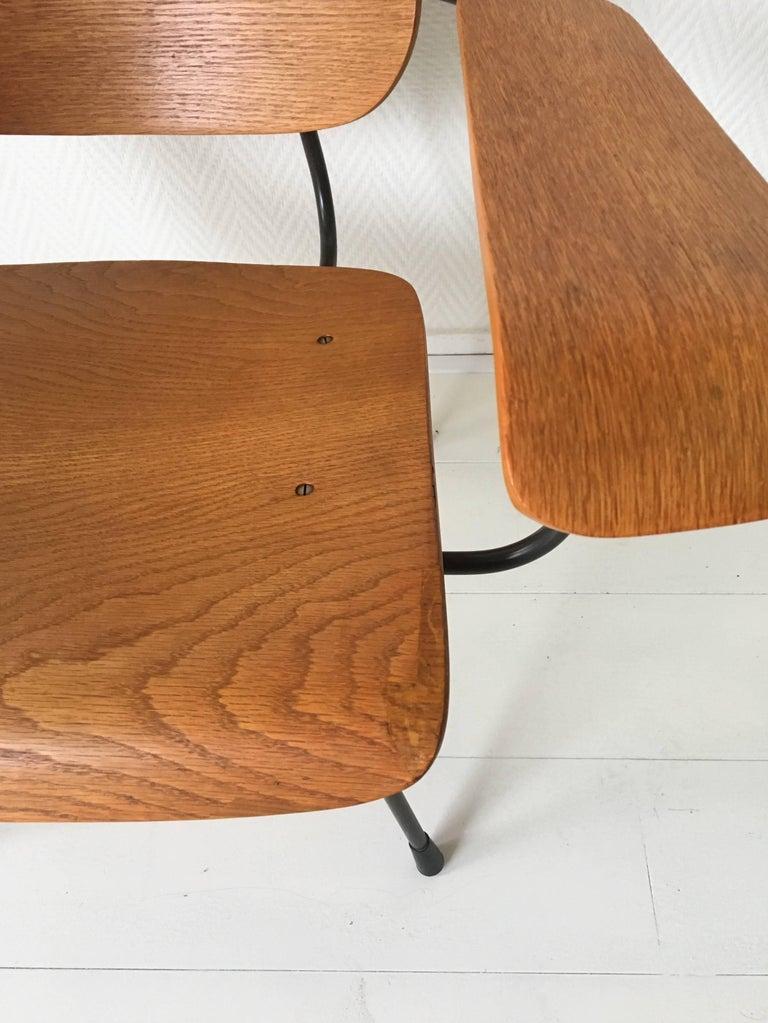 Minimalist Dutch Design Pilastro Easy Chair Model 8000 by Tjerk Reijenga, 1960s For Sale 3
