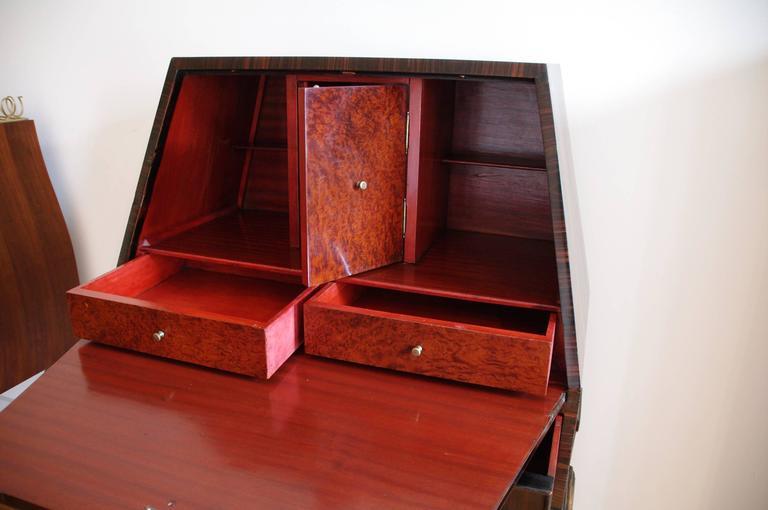 italian secr taire art deco 1940 attribute to buffa italy at 1stdibs. Black Bedroom Furniture Sets. Home Design Ideas