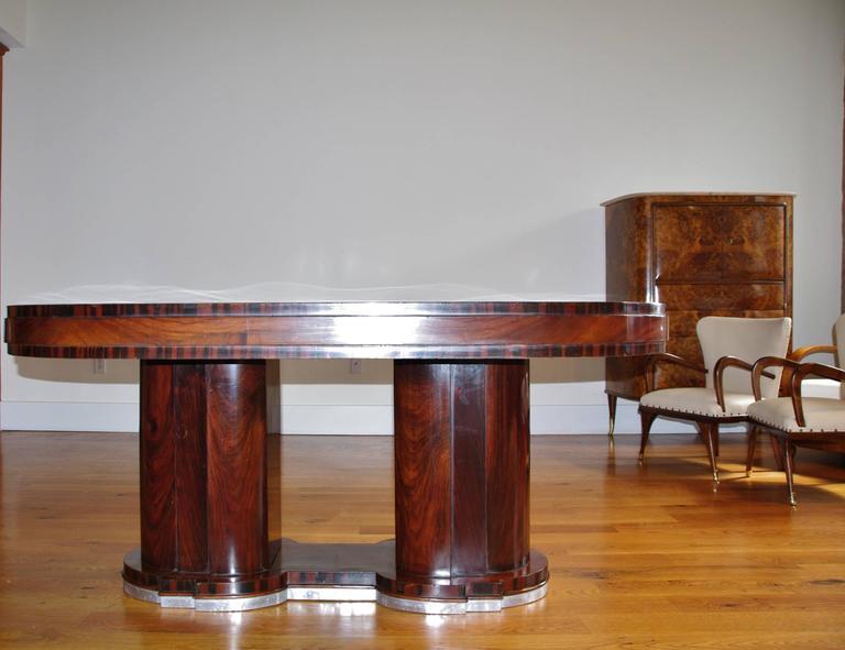 Italian Dining Table,1940s, Art Deco, By Premiato Stabilimento Di Mobili  Busnell 3