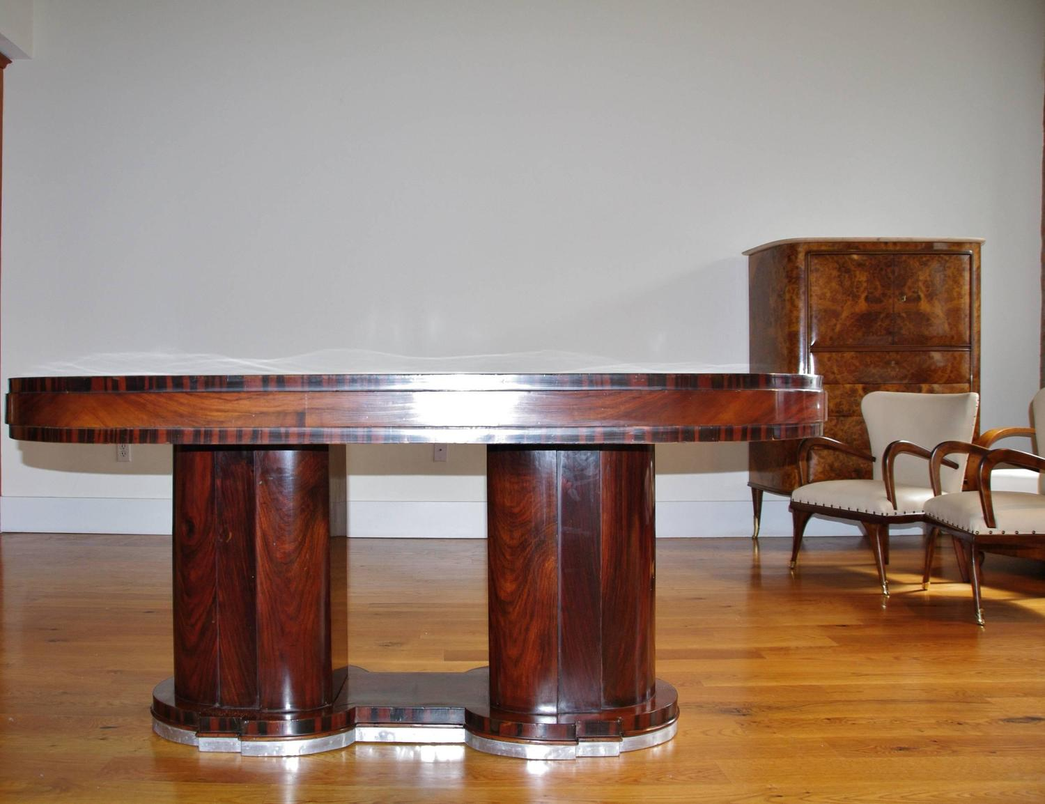 Italian Dining Table1940s Art Deco By Premiato Stabilimento Di Mobili Busnell At 1stdibs