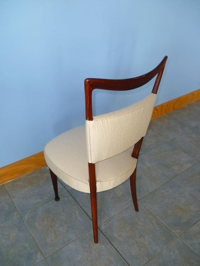 Rare Set of 6 Dining Room Chairs by Osvaldo Borsani, Italy, 1950s at ...