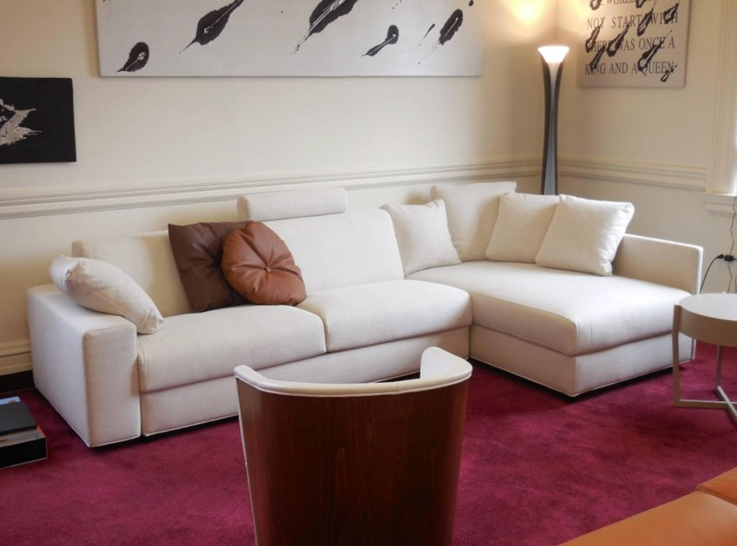 Modern Italian Sofa Bed Sectional SB41, Fabric, New, Made in Italy For ...