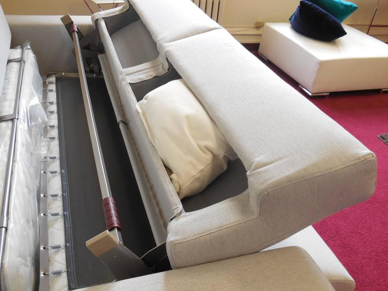 Modern Italian Sofa Bed SB52, made in Italy, Leather or Fabric, New 9