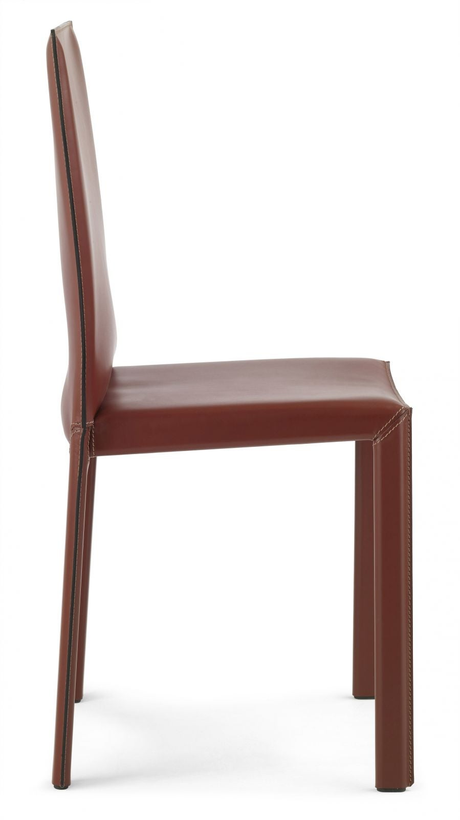 Italian Dining Leather Chairs with high back, made in Italy
