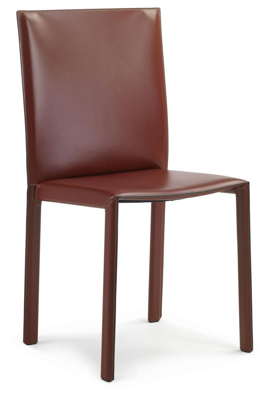 Lc03 italian leather chair modern design made in italy for Modern leather dining room chairs
