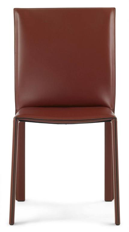 Contemporary LC03 Italian Leather Chair, Modern Design, Made In Italy, New  For Sale