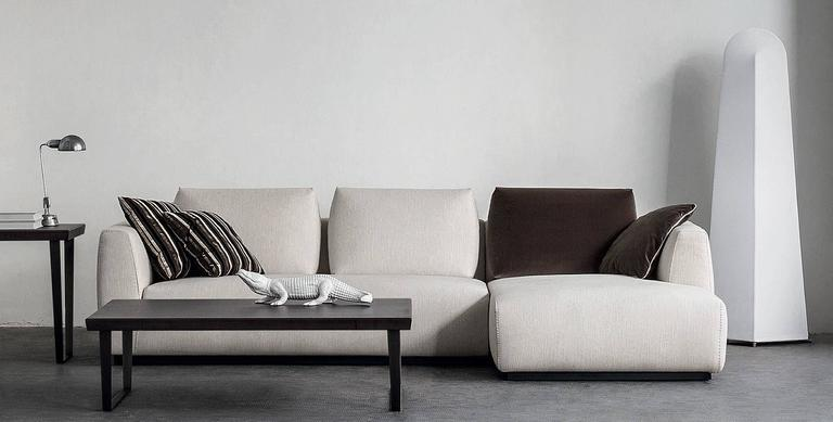Modern Italian Design Furniture Sectional Sofa, Made In Italy, Fabric, New  For Sale