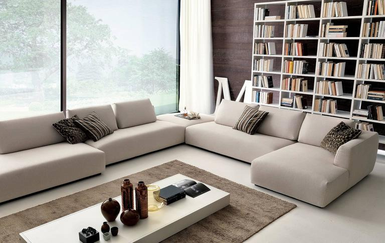 Modern Italian Sectional Sofa Available In Smaller Or Large Compositions.  This Italian Design Sofa Collection