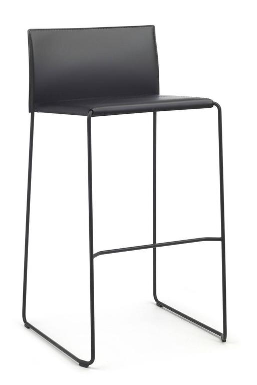 Modern Bar Stool Made In Italy New Leather Available In