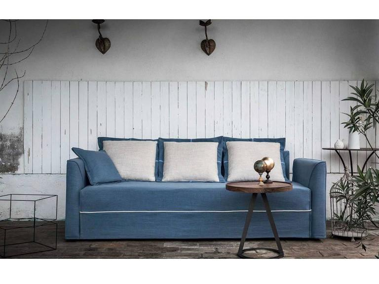 Fabric Modern Italian Sofa Bed with Trundle Bed or Storage Drawers, Contemporary Design For Sale