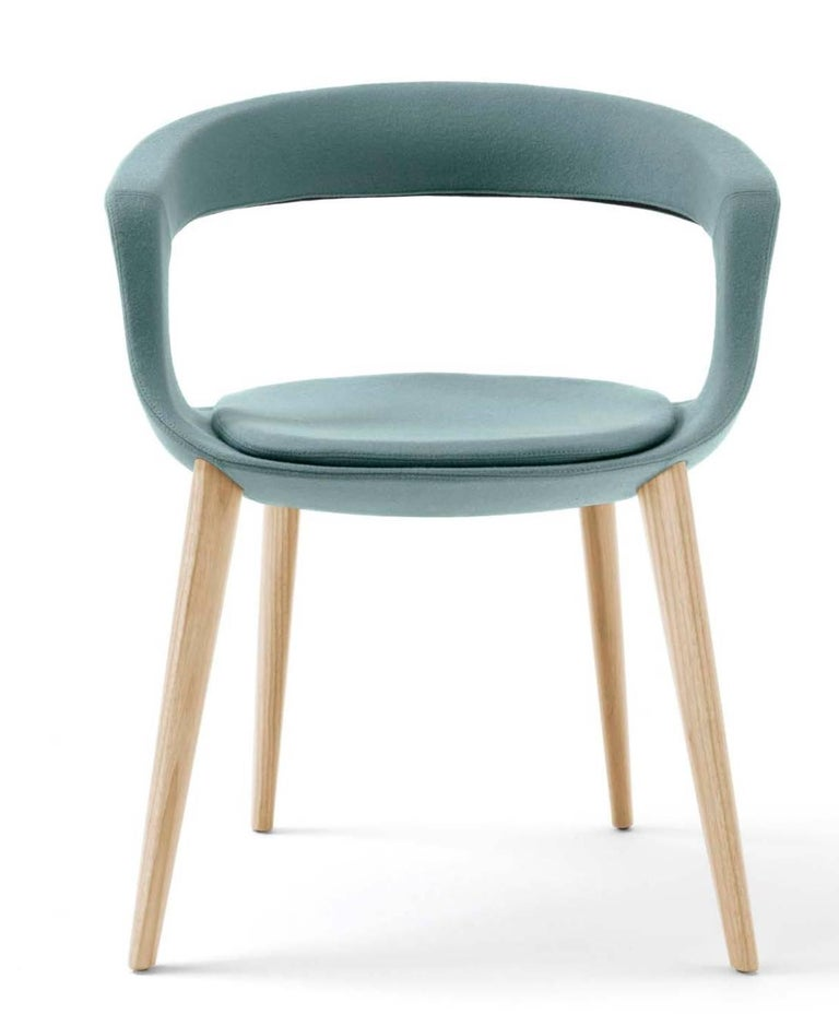 Italian contemporary dining chair made in italy leather for Modern leather dining room chairs