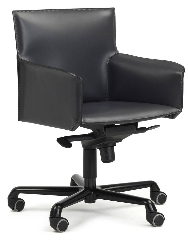 Designer Italian Office Chair leather swivel For Sale at ...