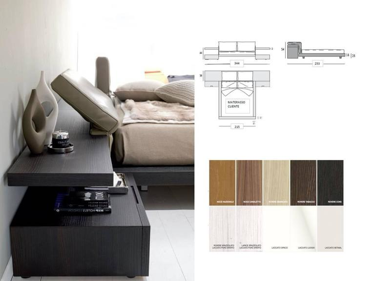 Modern Italian Platform Bed With Reclinable Headboard Made In Italy And  Imported From Italy. The