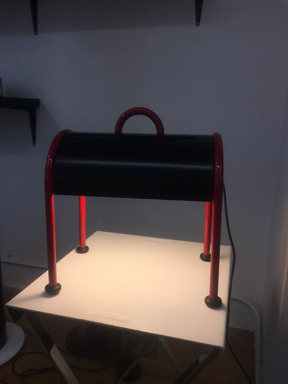 Ettore Sottsass Valigia Table Lamp by Stilnovo 197, First Edition  3