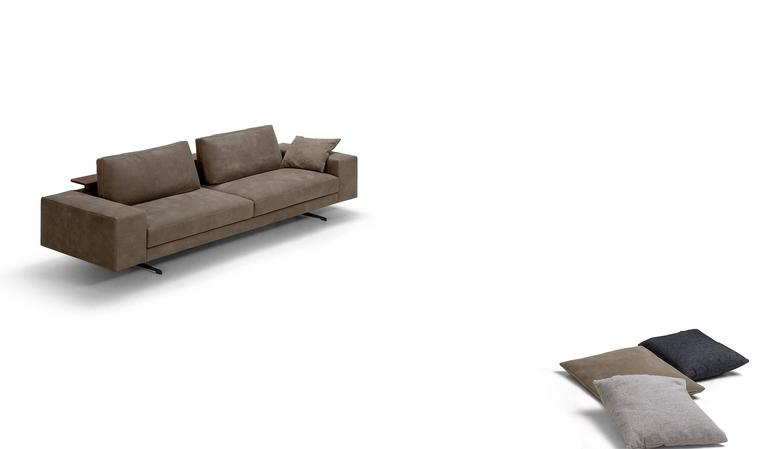 Contemporary Italian Sofa Custom Made To Order, Made In Italy, With A Modern