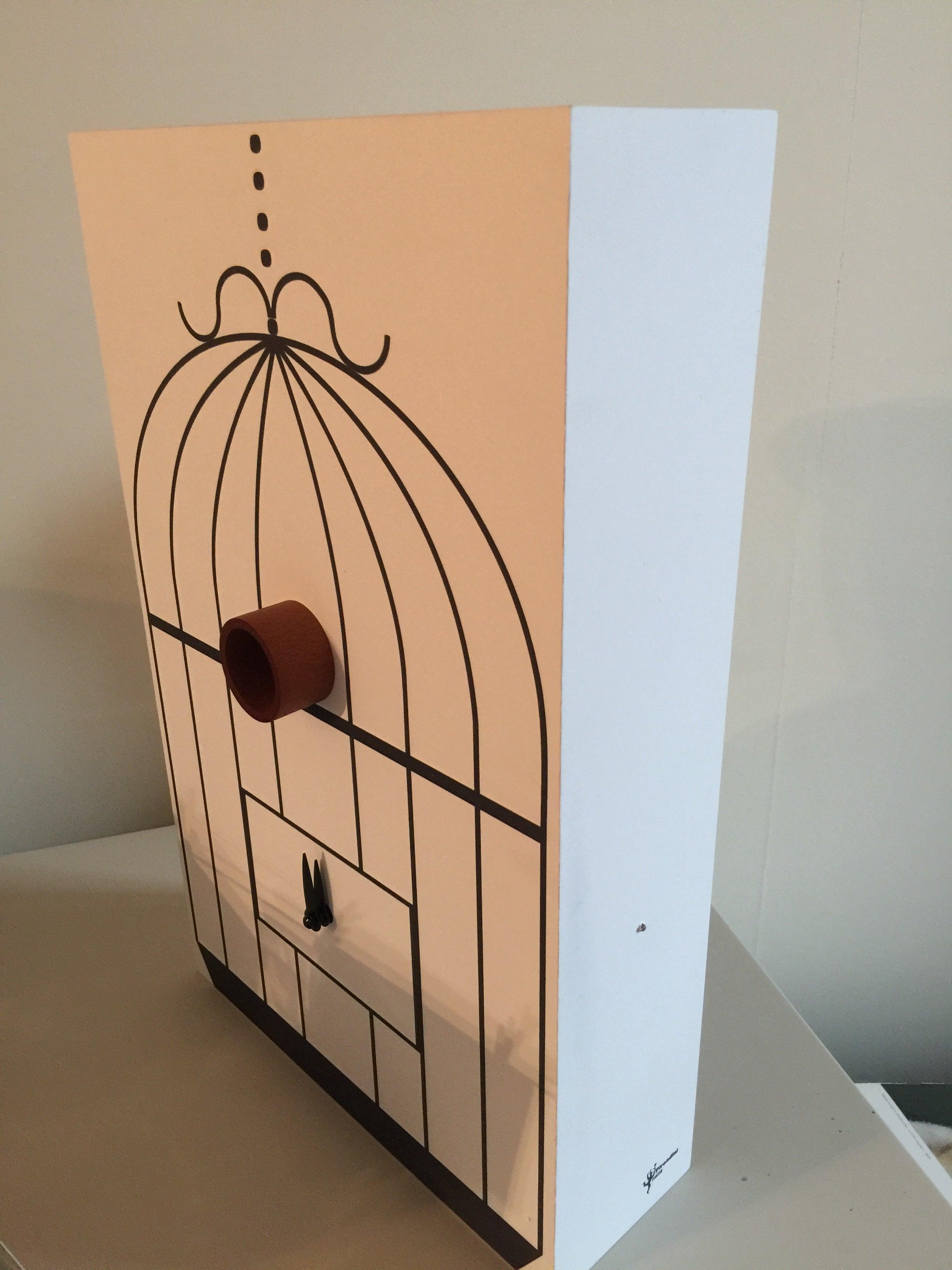 Modern Italian Cuckoo Clock Designer Gifts Idea White For Sale at ...