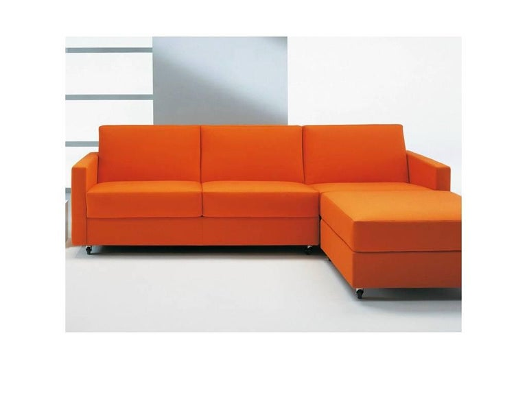 Modern Italian Sectional Sofa Bed with Storage