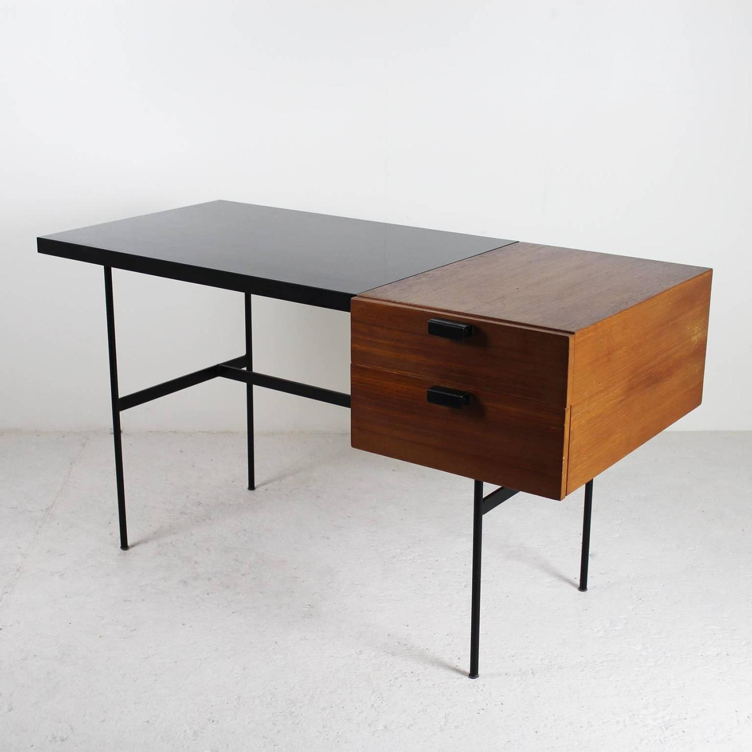desk cm141 by pierre paulin thonet edition 1955 for sale at 1stdibs. Black Bedroom Furniture Sets. Home Design Ideas