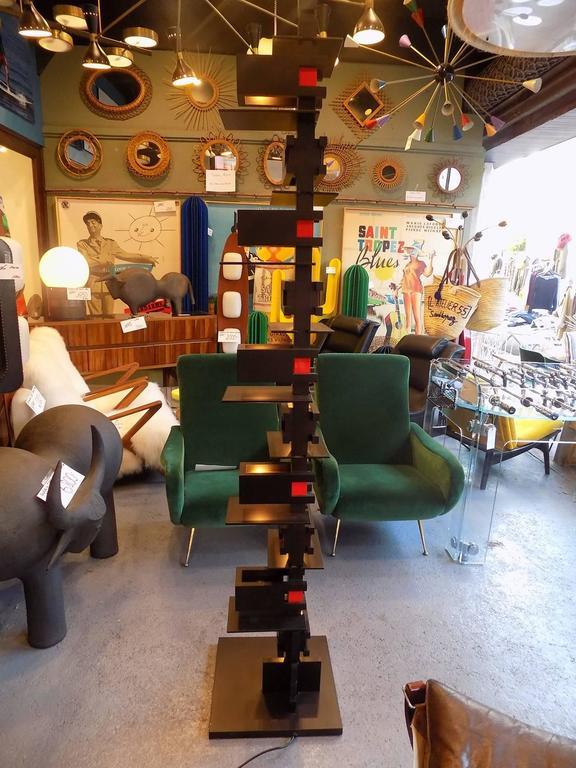 Black Taliesin Frank Lloyd Wright Wood Floor Lamp Yamagiwa Edition 3