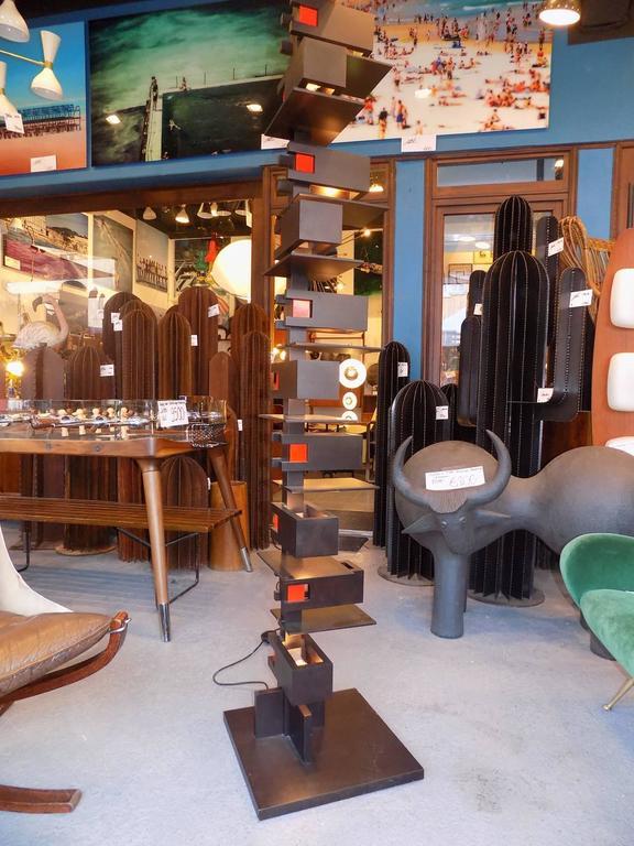 Black Taliesin Frank Lloyd Wright Wood Floor Lamp Yamagiwa Edition 4