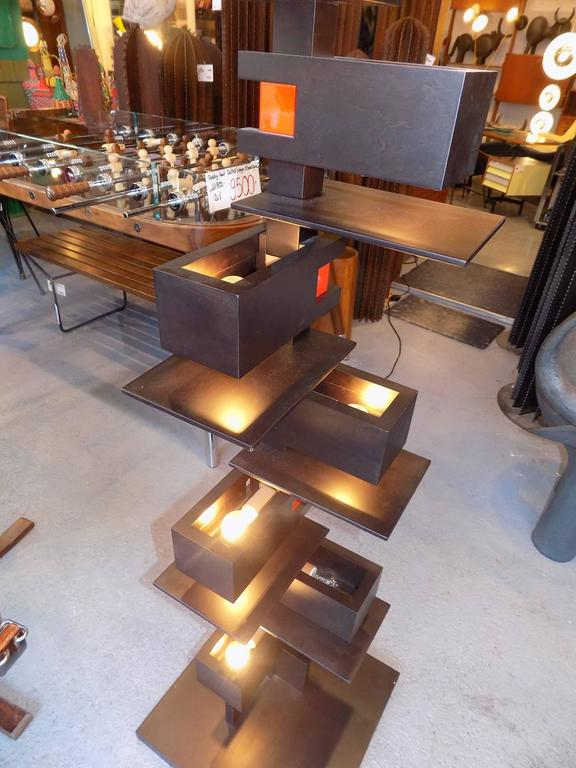 Black Taliesin Frank Lloyd Wright Wood Floor Lamp Yamagiwa Edition 5