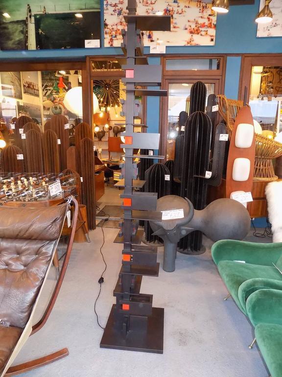 Black Taliesin Frank Lloyd Wright Wood Floor Lamp Yamagiwa Edition 6