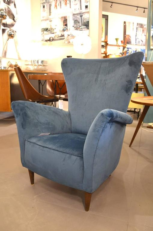 Beautiful Pair of Italian Reupholstered Armchairs in the Taste of Gio Ponti 6