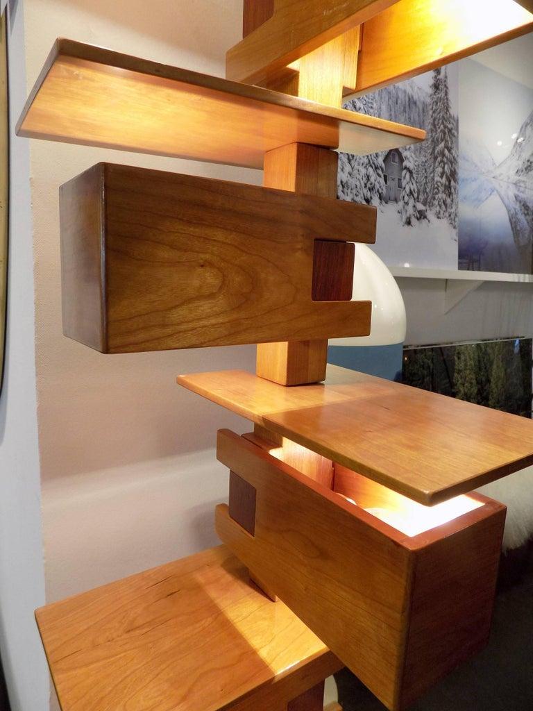 Fantastic pair of frank lloyd wright taliesin floor lamp for Frank lloyd wright flooring