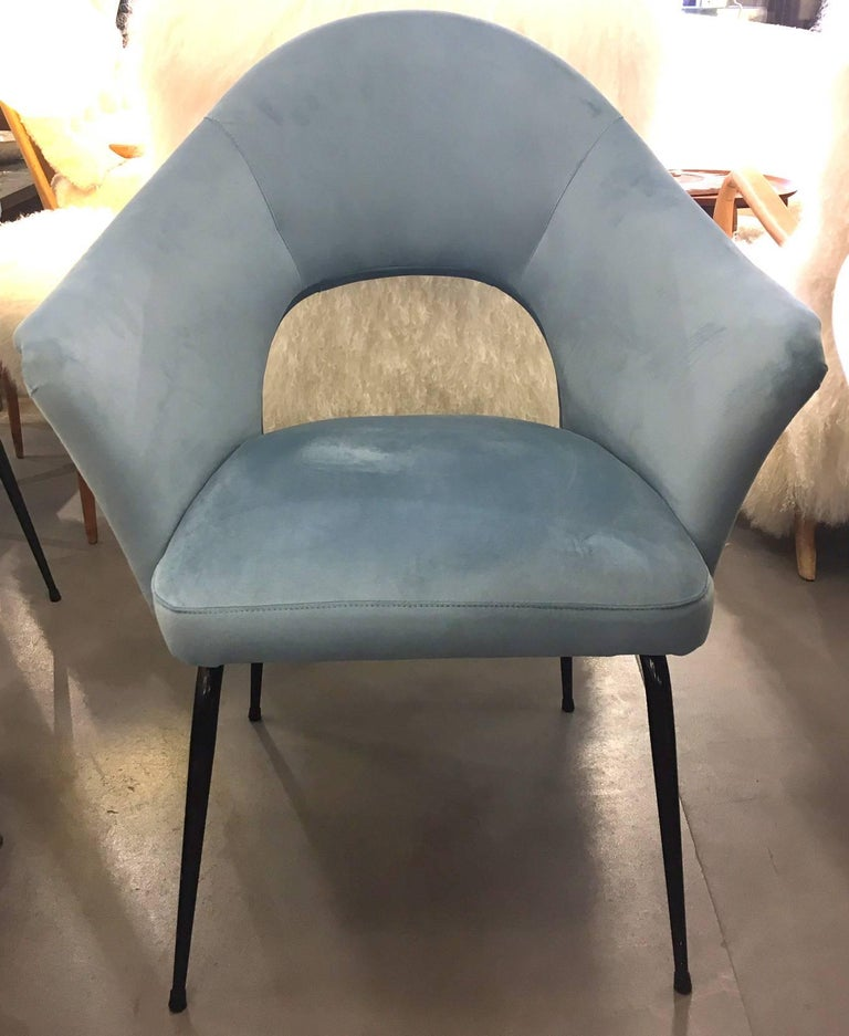 Fantastic set of height reupholstered chairs circa 1960 for Reupholstered furniture for sale