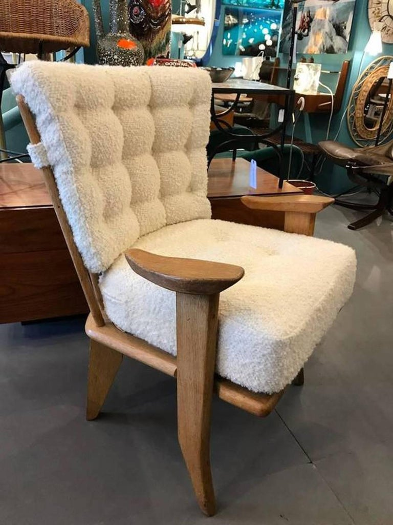 Set of Four Reupholstered Guillerme et Chambron Attributed Armchairs, circa 1960 3