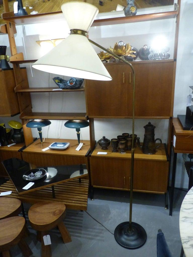 Huge 1960 French Floor Lamp in the Taste of Pierre Guariche 2