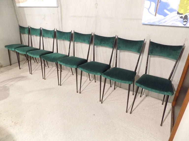 Huge set of ten reupholstered chairs circa 1960 for sale for Reupholstered furniture for sale