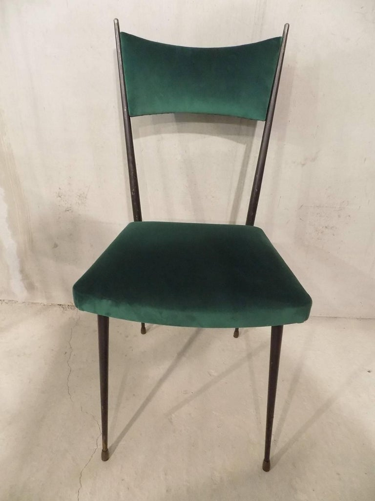 Huge set of ten reupholstered chairs circa 1960 for sale for Reupholstered chairs for sale