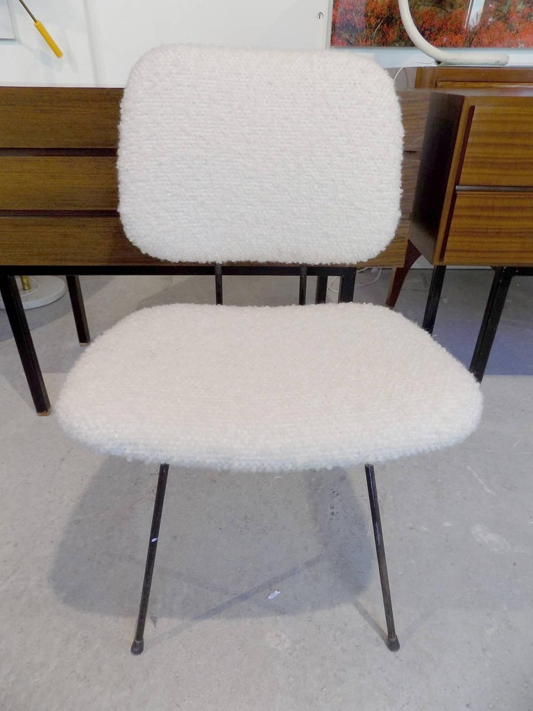 Beautiful italian reupholstered chair circa 1960 for sale for Reupholstered furniture for sale
